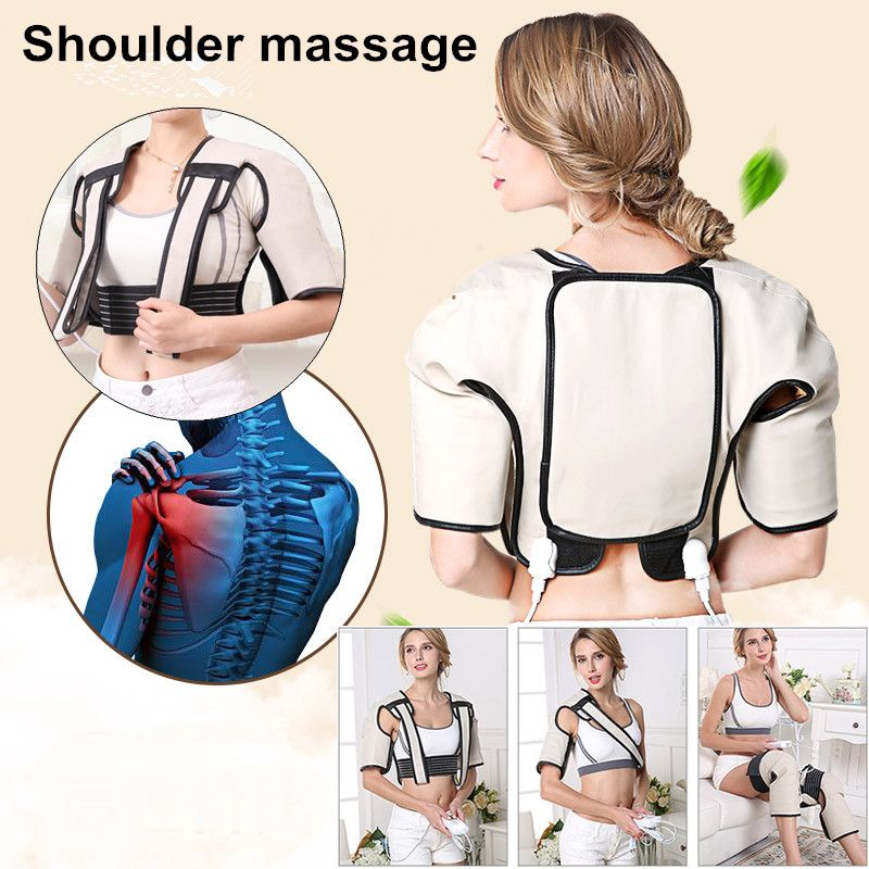 Best Gift! 2017 New Heating vibration shawl tapping shoulder neck cervical spine heating kneading belt pain relieve back support