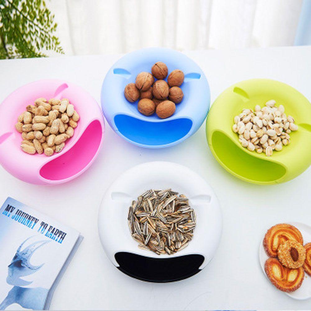 Новый творческий двойной Слои лоток конфеты закуски контейнеры сухие фрукты семена дыни Лотки для хранения коробка пластина блюдо поле с д...