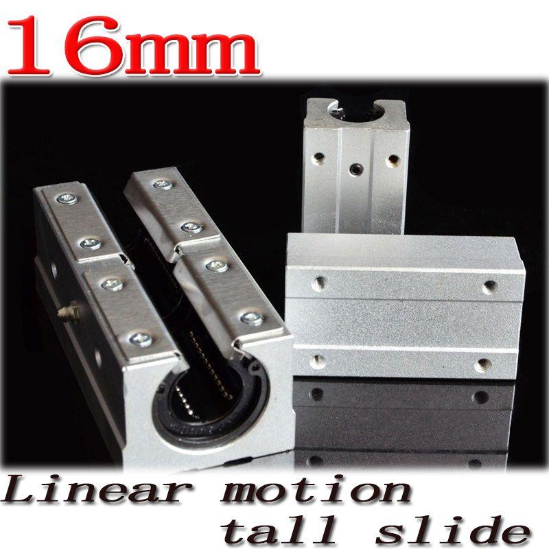 1pcs/lot SBR16LUU SBR16L 16mm linear ball bearing slide unit 16 mm linear bearing block for SBR16 linear guide Free Shipping