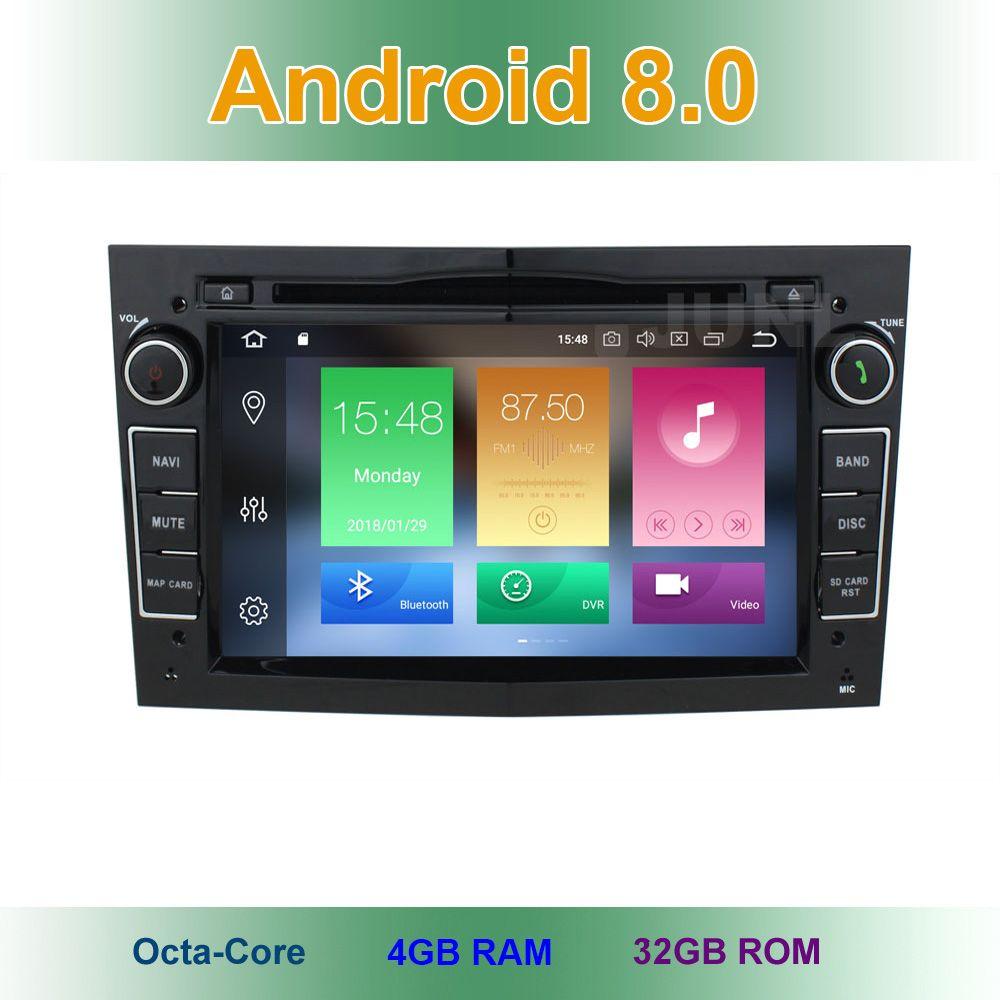 Android 8.0 Car DVD GPS Radio stereo or Opel Vauxhall Astra H G J Vectra Antara Zafira Corsa