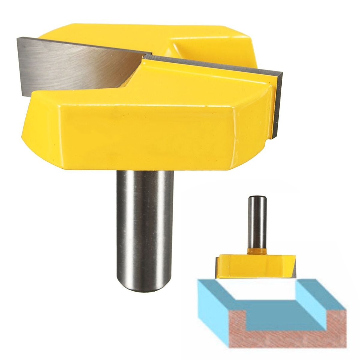 Strong 1/2 Shank 2-1/4 Diameter Bottom Cleaning Router Bit Mayitr Woodworking Router Bits Milling Cutter for MDF Solid Wood