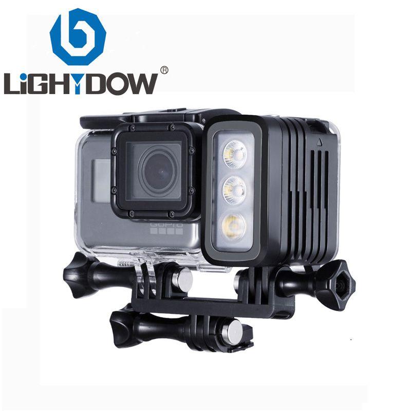 30 mètres sous-marine étanche plongée LED Gopro lumière LED Spot lampe pour GoPro Hero 5 4 3 + 3 2 SJCAM XIAOYi Sport caméras