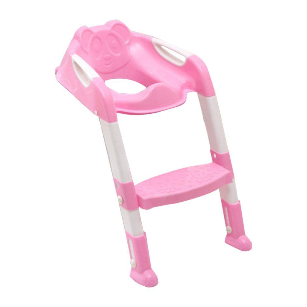 Для приучения к горшку сиденье Детский горшок для унитаз с регулируемой лестница для Туалет Обучение откидное сиденье 2 цвета