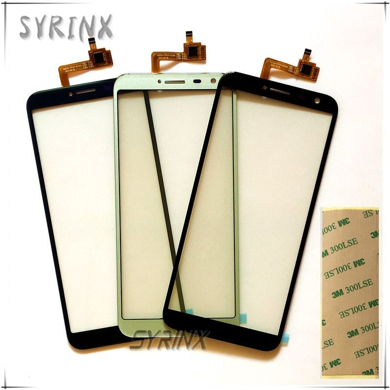 Syrinx With Tape Moible Phone Touchscreen For Oukitel C8 Touch Smartphone Touch Screen Digitizer Panel Front Glass Lens Sensor