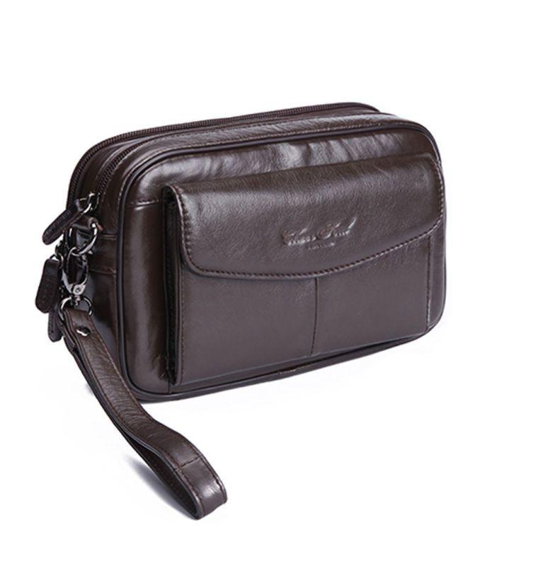 Männer Vintage 100% Echtem Leder Geschäfts Kupplung Taschen Handy Fall Zigarette Geldbörse Beutel Männlichen Handliche Tasche Brieftasche