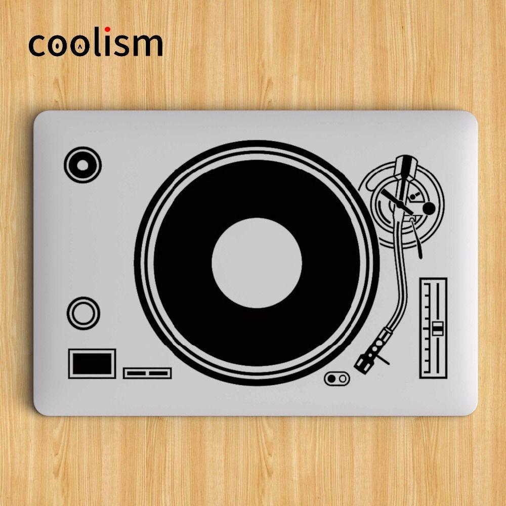 DJ Technics Pont Tourne-disque D'ordinateur Portable Autocollant pour Apple Macbook Decal Air Pro Retina 11