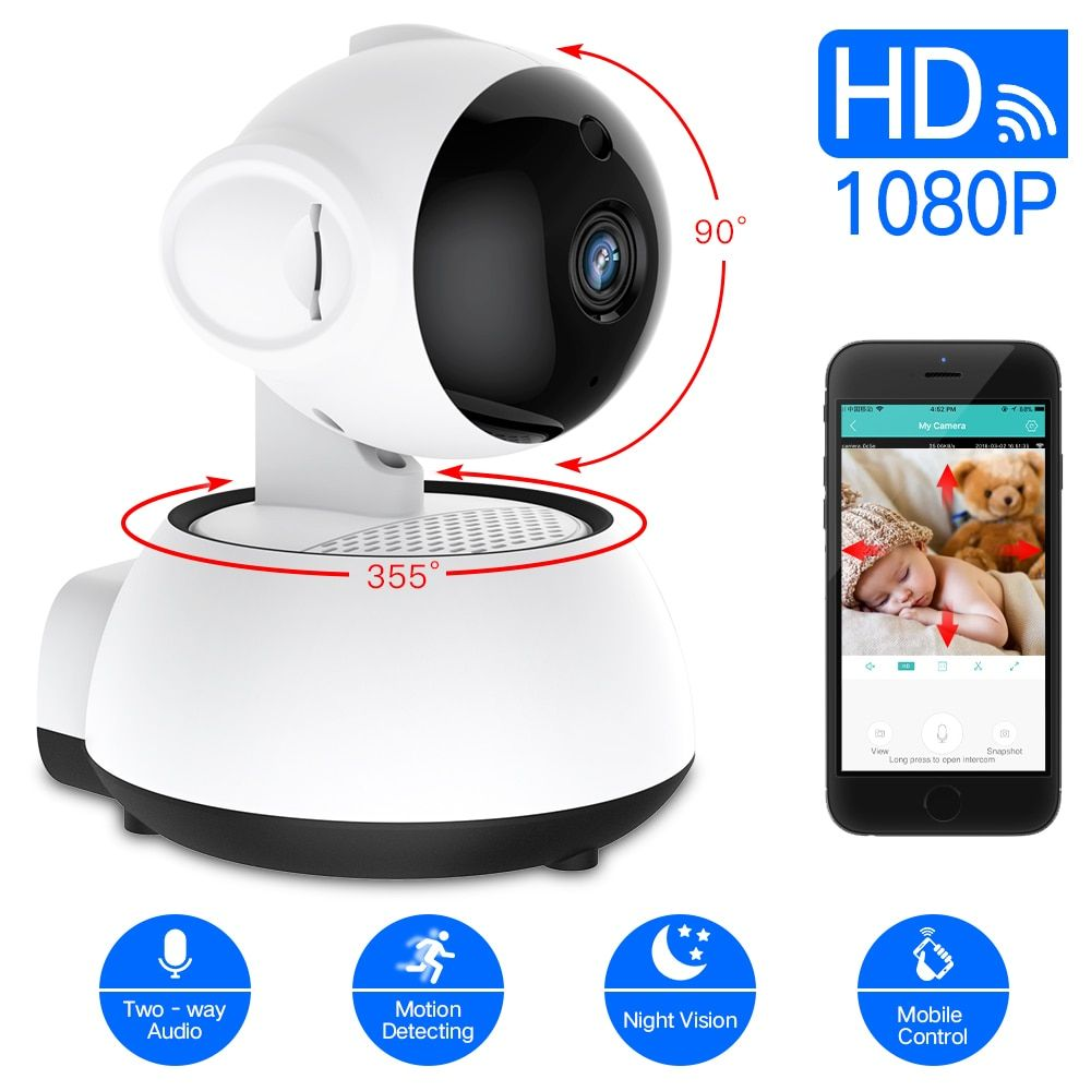 SDETER Wireless Security Camera IP Camera WIFI Home CCTV Camera 1080P 720P Audio Surveillance P2P Night Vision Baby Monitor Cam