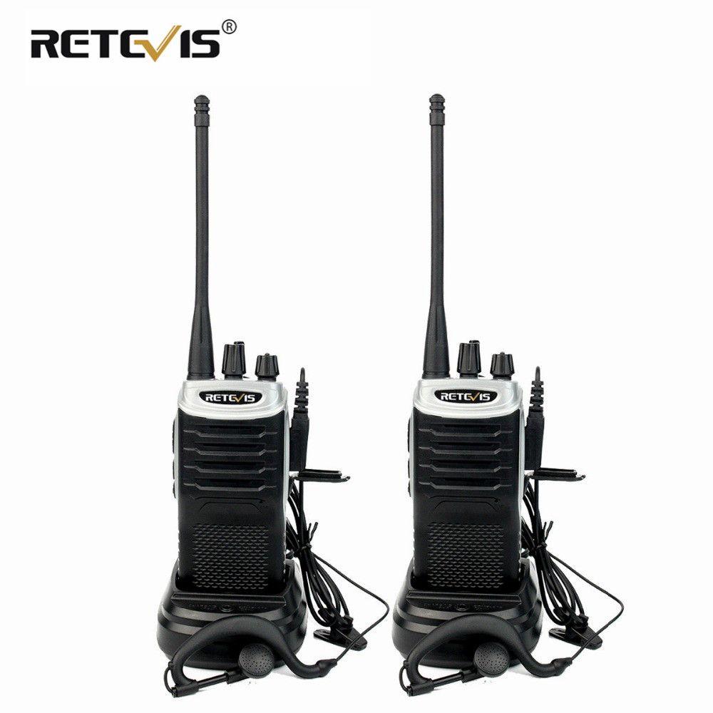 2 pièces rechapé RT7 Radio talkie-walkie 5 W 16CH UHF TOT FM Radio (88-105 MHz) fréquence Portable Radio ensemble émetteur-récepteur Portable Hf