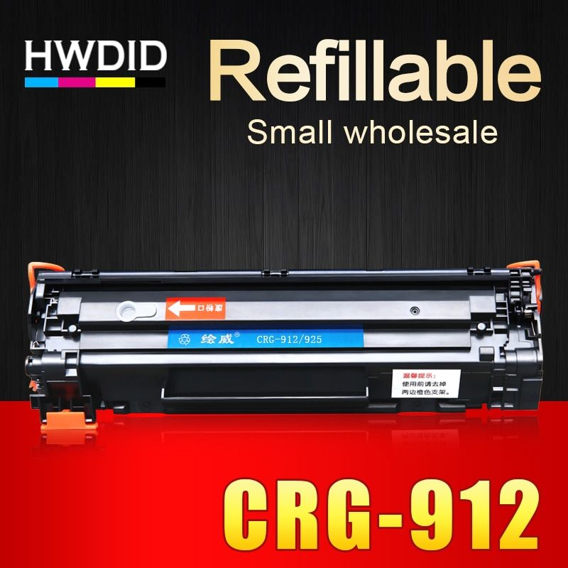 HWDID CRG 912 312 712 112 CRG 925 725 CB435A CE285A Toner cartridge compatible for Canon LBP 3010 3100 6000 6018 printers