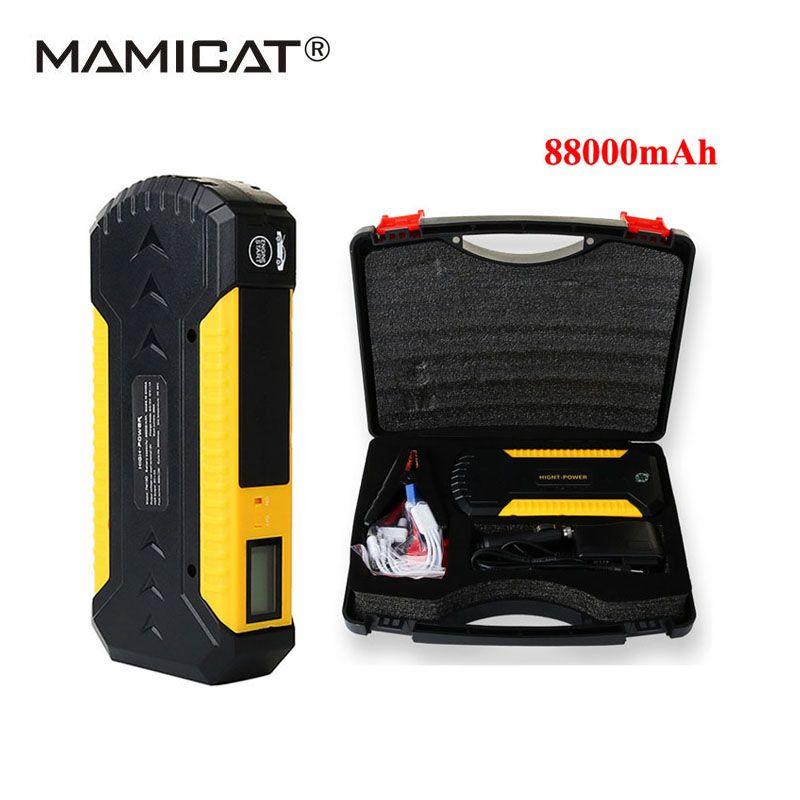88000 мАч Пусковые устройства для 12 В автомобилей, начиная устройства USB Освещение автомобиля Батарея аварийный Запуск digitals автомобиль усилит...