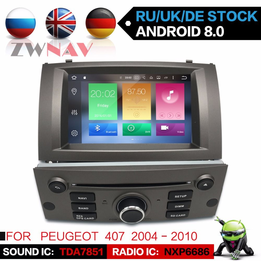 Android 8.0 8 Core RAM 4GB ROM 32GB For Peugeot 407 2004-2010 Car GPS Navi Radio Screen For peugeot 407 gps android Display
