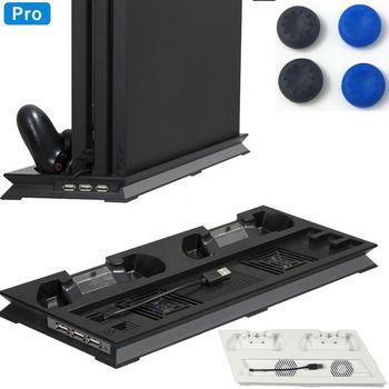 PS4 Pro Lüfter Kühler Vertikale Stand Basis Controller Ladestation Station für Sony Playstation 4 Pro Konsole Zubehör