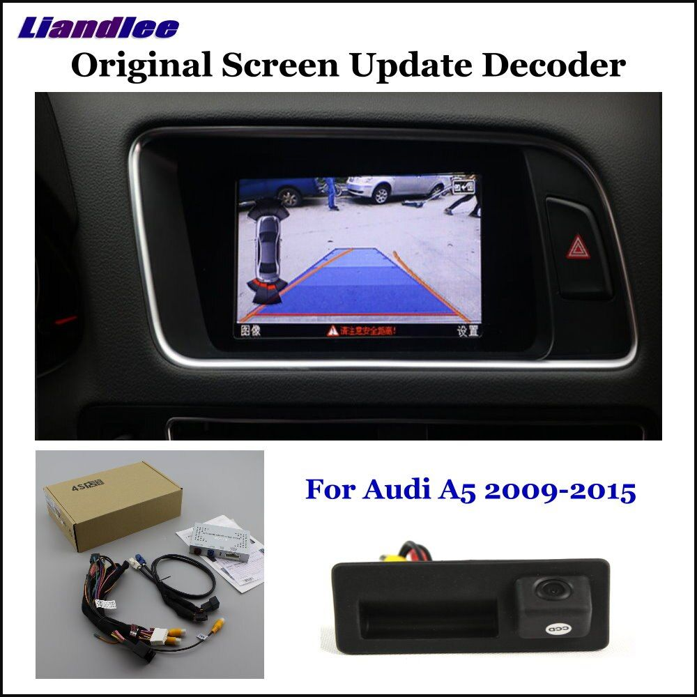 Liandlee Auto Original Bildschirm Update-System Für Audi A5 8 t/F5 (Low) hinten Reverse Parkplatz Kamera Digital-Decoder Display Plus