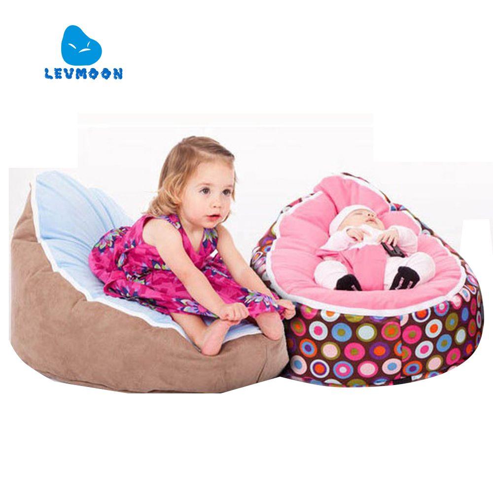 Levmoon sac de haricot moyen chaise enfants lit pour dormir Portable pliant enfant siège canapé Zac sans le remplisseur