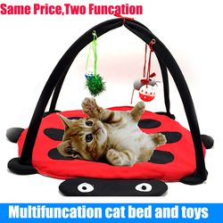 Mascota Cama de Gato juego juguetes actividad móvil jugando cama, juguetes gato cama Pad manta Casa, muebles para mascotas Casa de gato con bola