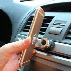 Getihu magnética 360 car holder mini ventilador de aire de montaje Magnet teléfono celular móvil universal para iPhone GPS soporte