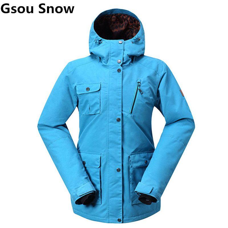 Gsou Schnee Snowboard Ski Jacket Wasserdicht 10 Karat Atmungs Mountain Ski Jacke Weibliche Warmen Mantel Frauen Winter Jacken