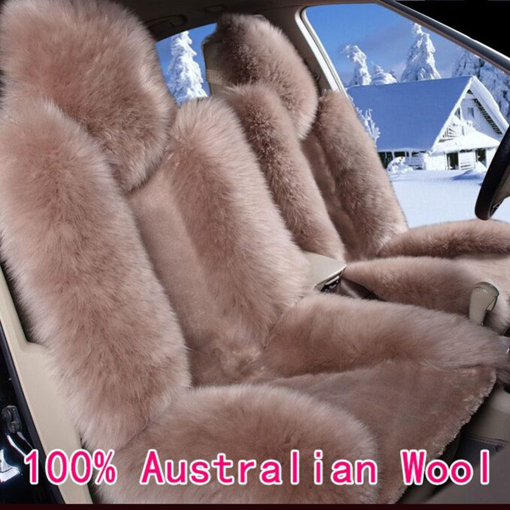 100% Australian Pure Natural Wool Seat Cover, Super Warm Fur Car Seat Cushion, Wholesale Promotion High Quality Car Seat Covers