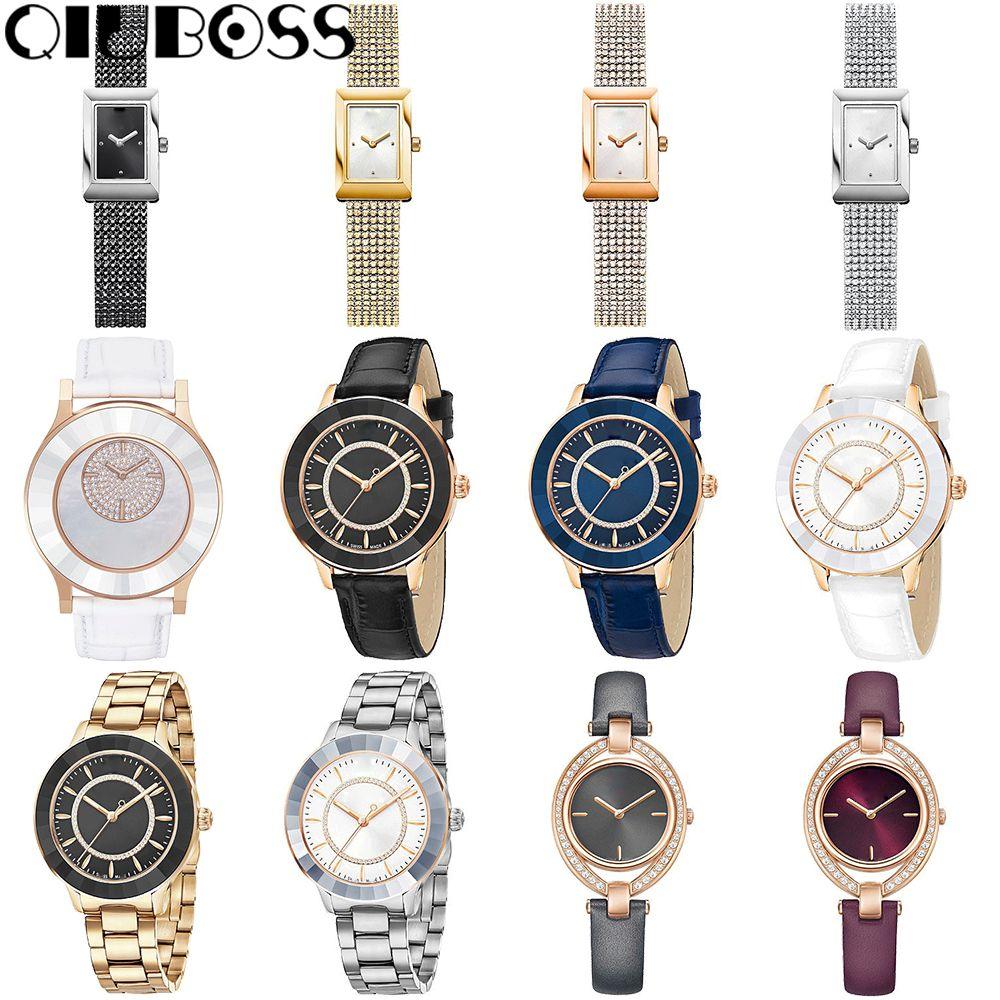 QIUBOSS Watch Leather Quartz Man Watches Special Desgin Mathe Matical Formula Prints Fashion Men's Needle Length Wristwatch