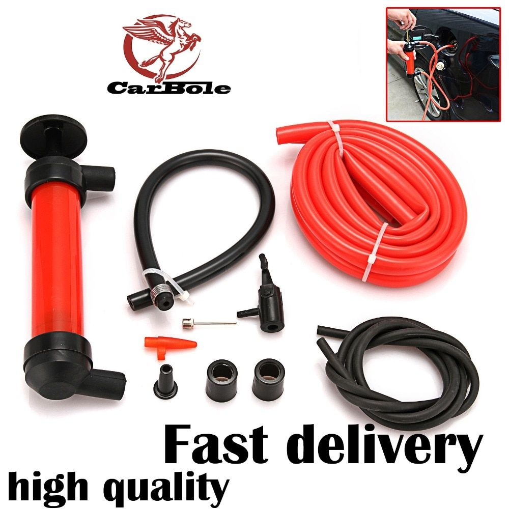 CARBOLE Oil Extractor Pump Siphon Water Oil Liquid Fuel Hand Pump Air Inflator Extractor Oil Change Pump Siphon Water