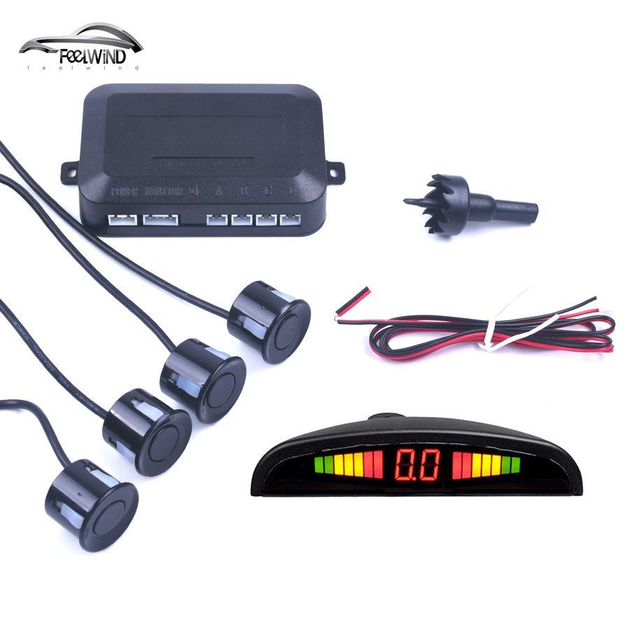 Car Auto Parktronic LED Parking Sensor With 4 Sensors Reverse Backup Car Parking Radar Monitor <font><b>Detector</b></font> System Backlight Display