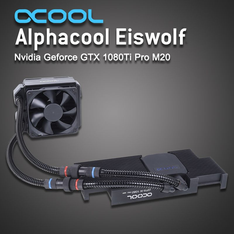 Alphacool Graphics card integrated water-cooled radiator for ASUS Eiswolf gtx 1080Ti gpu cooler