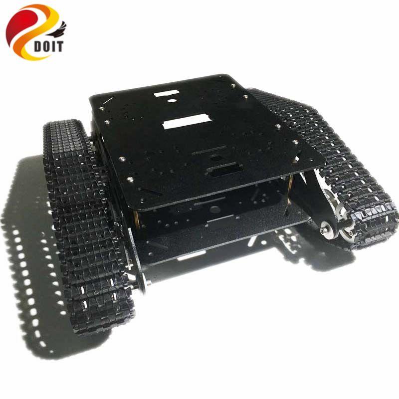 DOIT Absorption des chocs métal chenillé Robot voiture châssis TSD300 avec bras Robot Interface trou pour Modification RC jouet bricolage