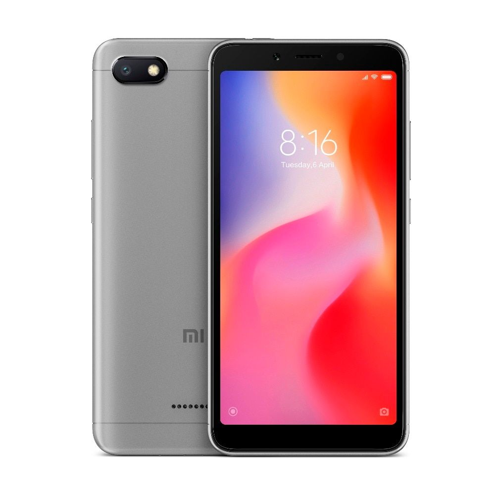 Xiaomi Global Version Redmi 6A 2GB 16GB ROM Mobile Phone Helio A22 Quad Core 5.45 inch 13.0 MP + 5.0MP Dual Camera Smartphone