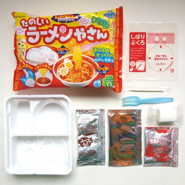 Bricolage Kracie Popin Cuire bonbons pâte Jouets. nouilles Boulettes donut animaux zoo heureux cuisine Japonais alimentaire bonbons snacks making ramen
