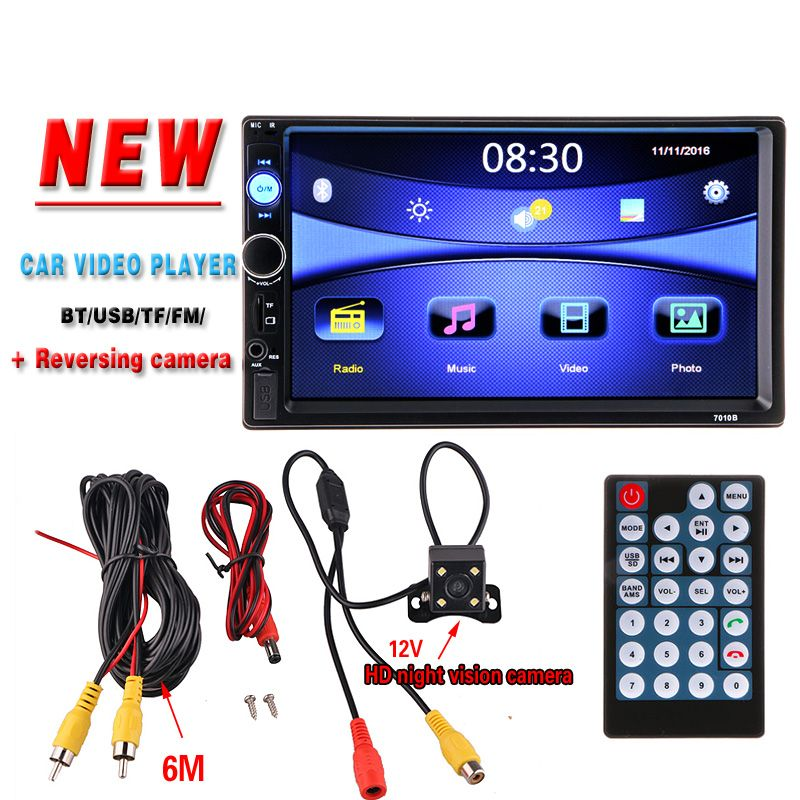 2 din Auto Multimedia Player HD Rückfahrkamera Bluetooth Stereo Radio FM MP3 MP5 DVD Video Audio USB Auto Elektronik Autoradio