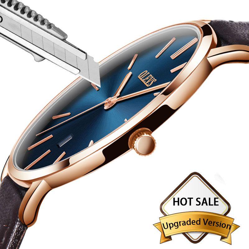 Montre Hommes Célèbre Marque De Luxe Montre-Bracelet Des Hommes Montres En Cuir Sport Étanche Auto Date Quartz Montre-Bracelet relogio masculino