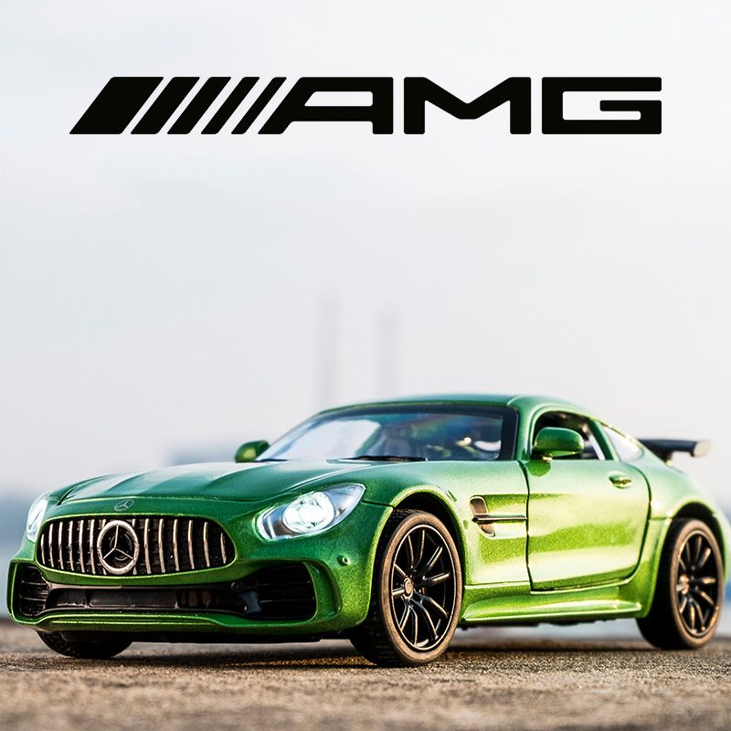 KIDAMI 1:32 Alloy AMG GT GTR Pull Back Diecast Car Model with Sound Light MINIAUTO Toy Vehicles Toys for Children oyuncak araba