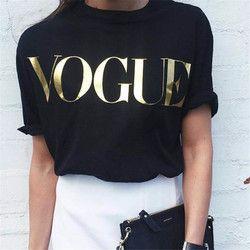 2018 Fashion Summer T Shirt Women VOGUE Printed T-shirt Women Tops Tee Shirt Femme New Arrivals Hot Sale harajuku female T-shirt