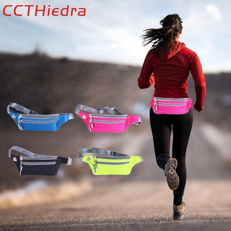 CCTHiedra Taille Ceintures Entraînement Fitness Zipper Pouch téléphone portable Packs Exécution Brassard sacs Sport 4.0-6.0 pouce Brassard Téléphone sac