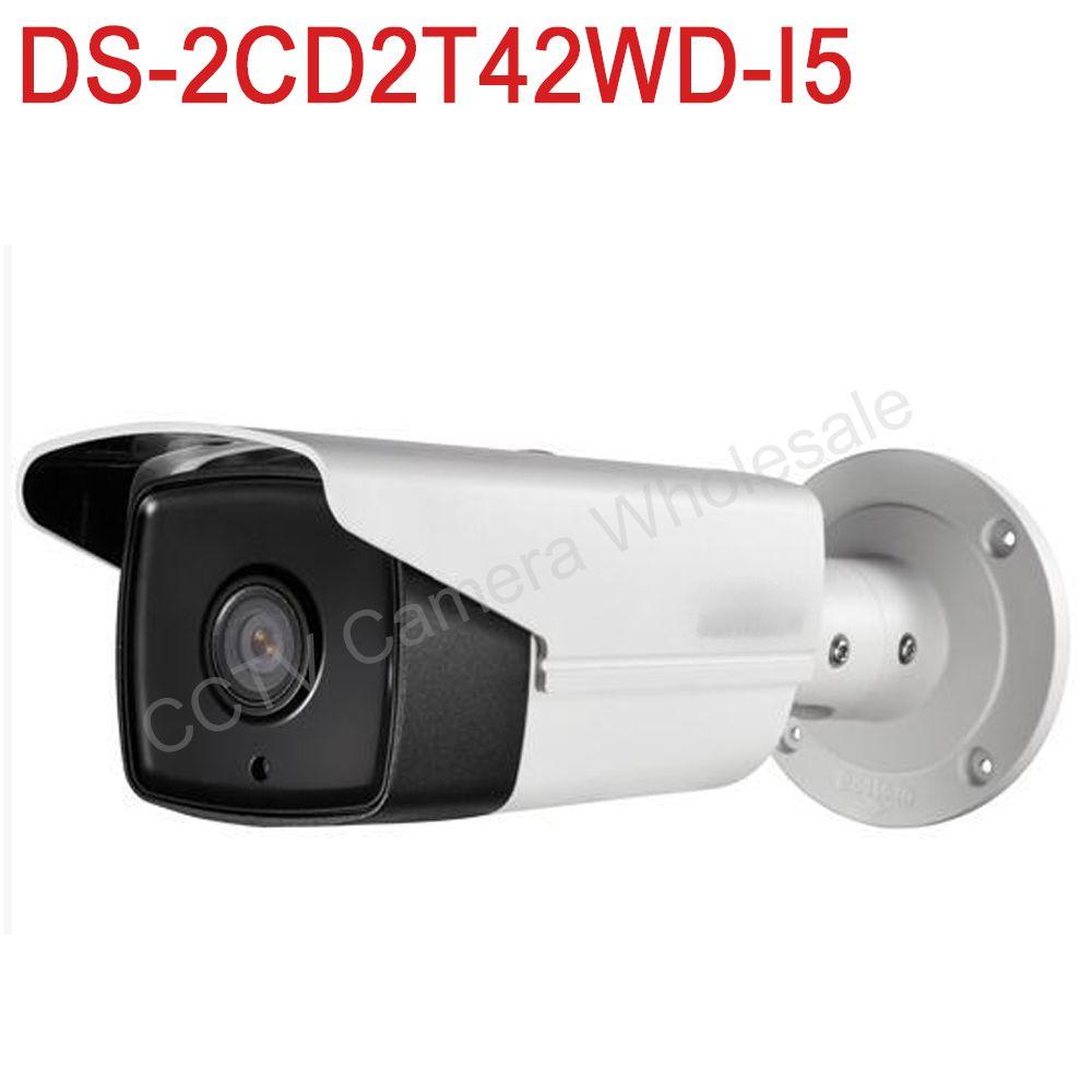 В наличии международных английская версия ds-2cd2t42wd-i5 4mp Exir сети IP пули безопасности Камера POE, 50 м ИК, 120db WDR, H.264 +