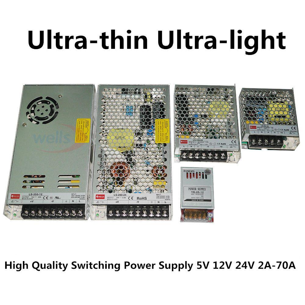 LED 12 V 24 V à 2A 4A 8A 10A 14A 16A 20A 29A alimentation transformateur bande lumières adaptateur alimentation à découpage