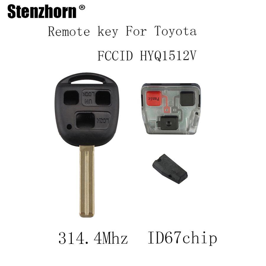Stenzhorn 314.4Mhz Car Remote key Fob For Lexus 2003 2004 2005 2006 2007 2008 2009 GX470 2003-2008 LX470 4D67 Chip Original keys