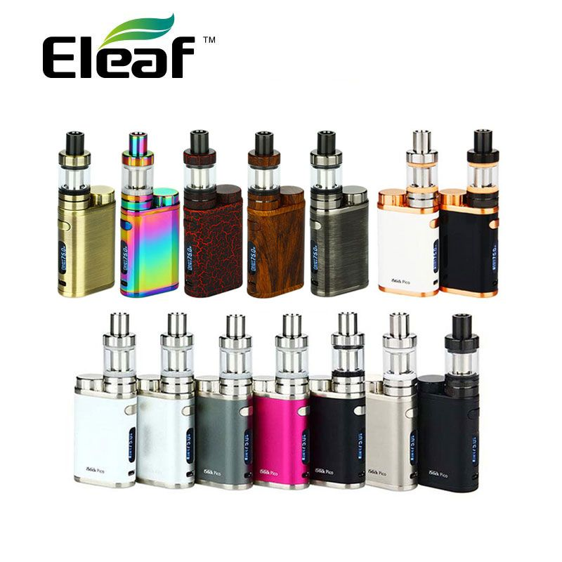 New 75W Eleaf iStick Pico Kit with MELO 3 Mini Tank 2ml in New Editions VW/TC Mode istick Pico Mod 75W e electronic cigarette