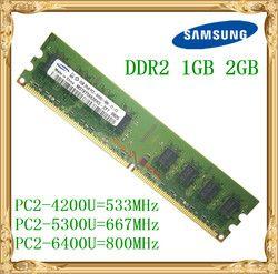 Samsung memoria de escritorio 1 GB 2 GB 4 GB DDR2 533 667 800 MHz PC2-5300 6400U PC Ram 800 6400 2G 240-PIN