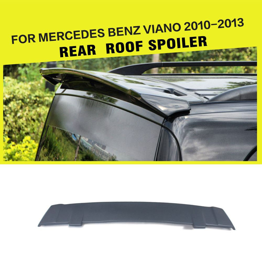 FRP Primmer Grey Fiberglass Doors Boot Roof Wing Spoiler For Mercedes Benz Viano 2010-2013