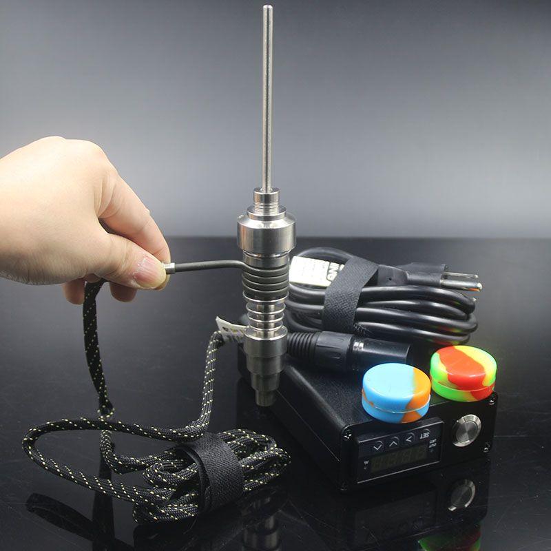 Wood ArmyGreen black color Enail D nails dab Electronic D nail TC PID box Dabber Dab rig E Nail Titanium Ti carb cap