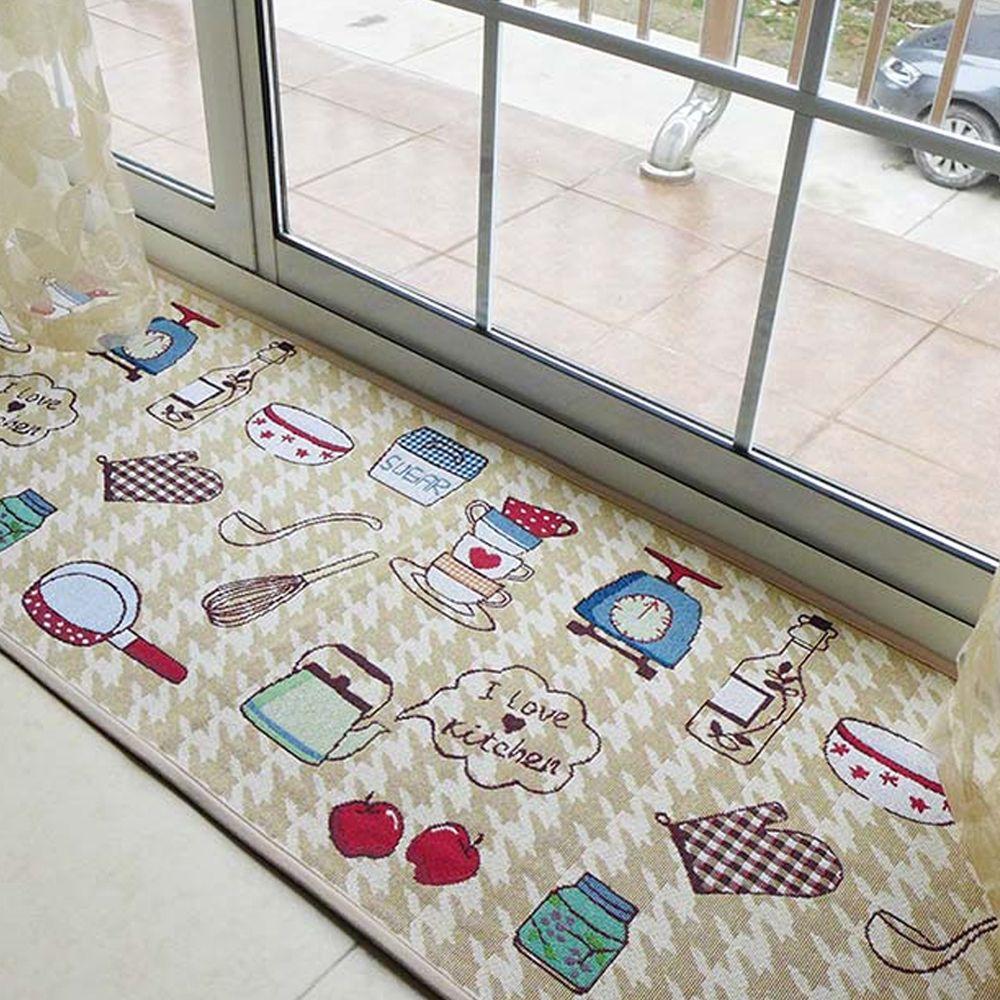 Yazi жаккардовая Еда тема Ковры Tapete мягкие Ткань дома я люблю Кухня пол Коврики Нескользящие Ковры 4 Размеры Домашний Декор