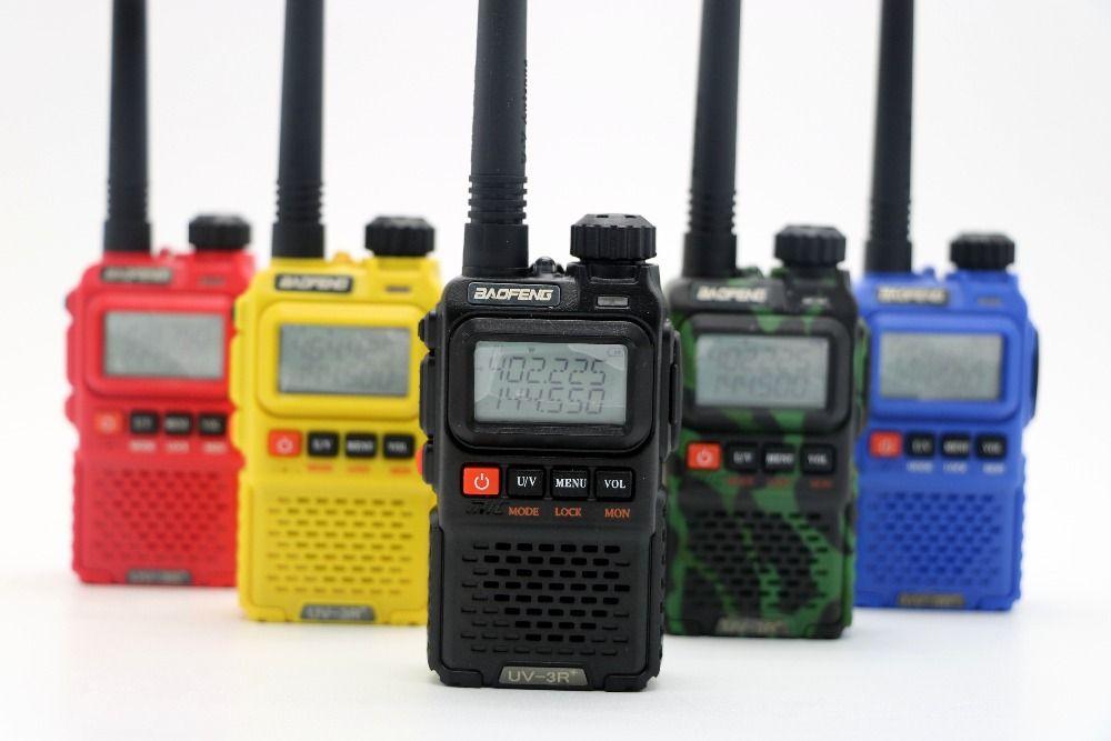 Baofeng UV-3R Plus Deux 2 Way Radio Portable Double bande UHF VHF 99CH VOX FM lampe de Poche baofeng UV3R + Radio Mini Talkie Walkie