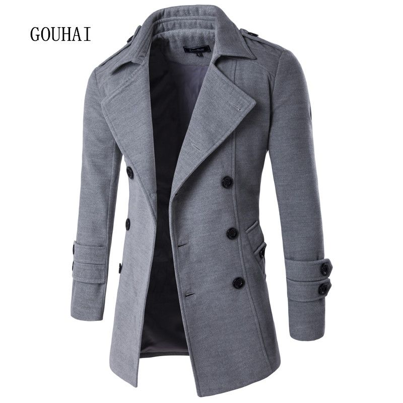 2017 Autumn Winter Jacket Men Peacoat Mens Jackets And Coats Brand Clothing Male Chaqueta Hombre Wool & Blends Men M-XXL
