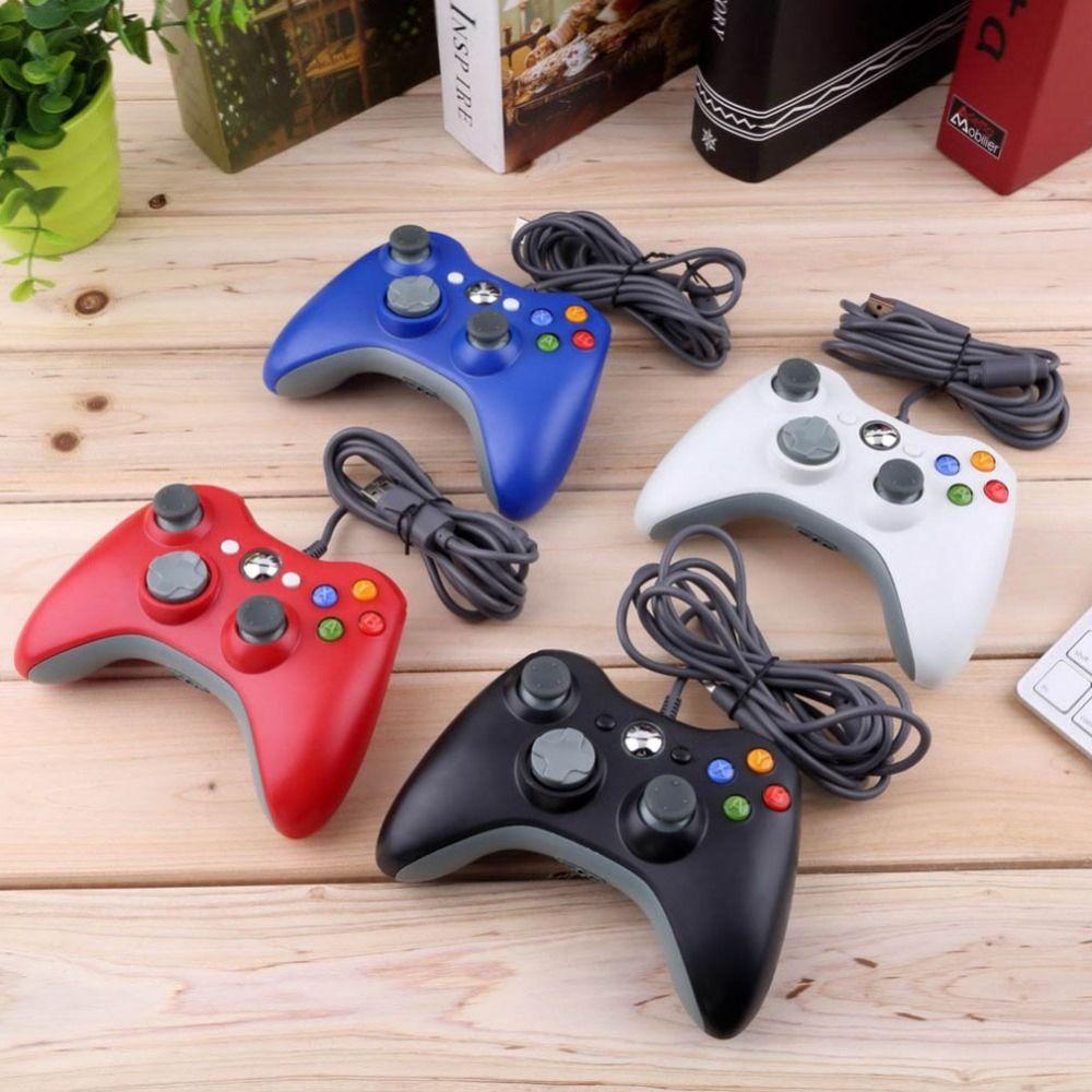 Manette filaire USB pour Console Microsoft Xbox 360 manette filaire manette Joypad noir blanc rouge bleu pour manette de jeu PC