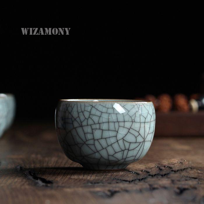 1 pièces Six couleurs chinois Longquan céladon porcelaine Gaiwan ChinaTeacups porcelaine bol 100 ml chine théière céladon craquelé Teacup