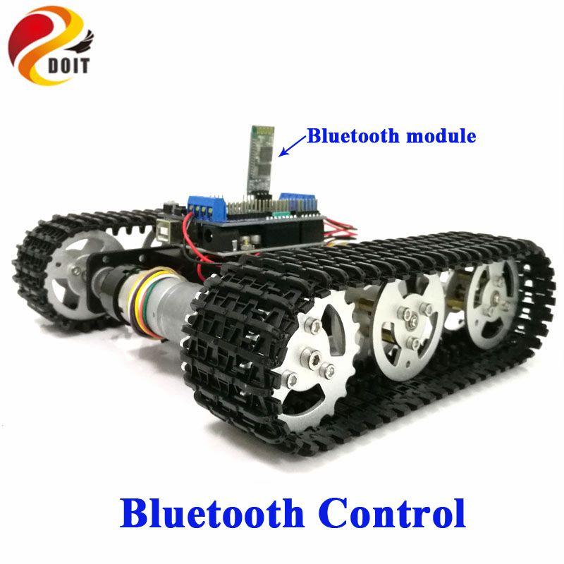 MUST Bluetooth Contrôle de Robot En Métal RC Réservoir Voiture Châssis Sur Chenilles Chenillé Concurrence avec UNO R3 + Moteur bouclier