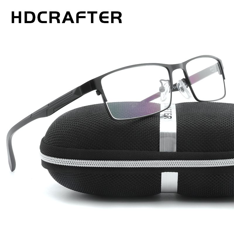 HDCRAFTER Men's Metal Eyewear Frames Unisex High Quality Men Reading Optical Eyewear Frames Unisex Computer Glasses