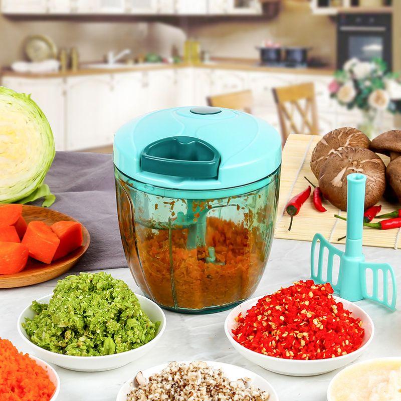 LEKOCH Hachoir À Viande Manuel Alimentaire Processeur Hachoir à Légumes Trancheuse L'oignon L'ail Farine Oeuf Agitateur Outil de Gâteau de Cuisine Accessoires