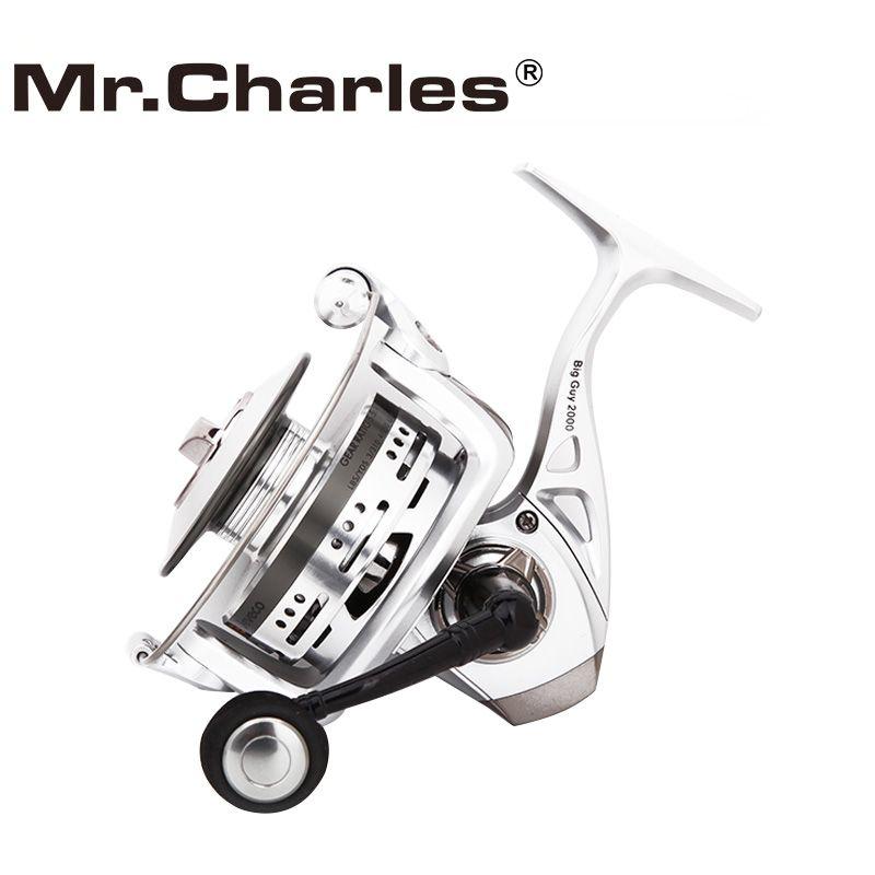 M. charles BigGuy Moulinet De Pêche, Moulinet De Pêche 5.5: 1 6 + 1BB, conception spéciale En Aluminium Bobine Pour Coulée Longue